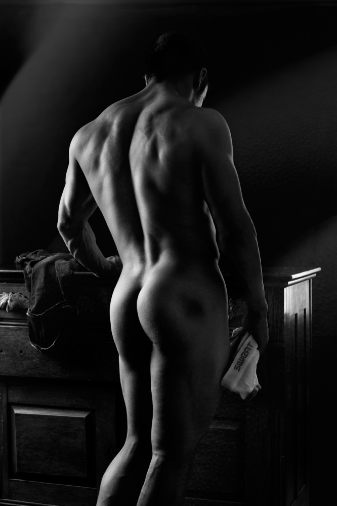 white Black art and nude male